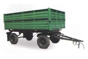 Прицеп самосвальный тракторный СЗАП-8521 с надставными бортами